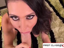 FirstClassPOV - Jessica Jaymes deep throating a monster pecker, enormous boobies %26 massive rump