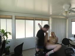 LOAN4K. Clean-Shaved appetizing honeypot help platinum-blonde nubile in difficult situation