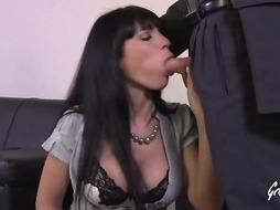 Dark-Hued haired nymph with large caboose and immense mammories, Valentina Ricci got screwed stiff, in the bum