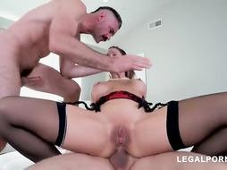 Cherie DeVille is getting romped in every crevasse while having hookup with 2 men she enjoys