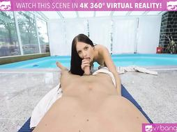 VRBangers Youthfull Black-Haired Get Pummeled Firm at the Pool Side
