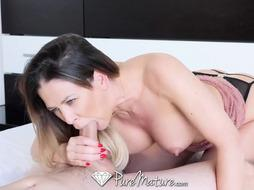 PUREMATURE Huge-Boobed COUGAR Puts More Than The Apex In Her RUMP