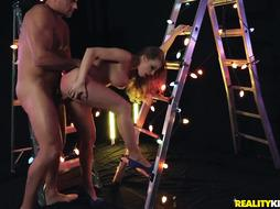 Britney Amber is the one who loves to plumb all the time, even while at work