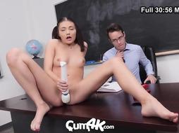 CUM4K Troubled College Gal Pulverized In Detention With Numerous Dribbling Creampies