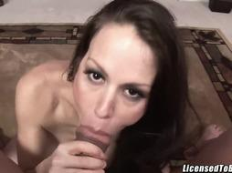 McKenzie Lee pokes her step son-in-law and gets facial cumshot