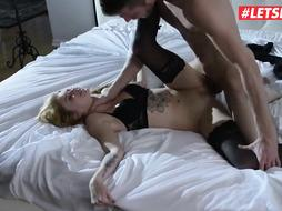 Accomplished platinum-blonde call woman is constantly having orgy with her customers, if they give her expensive gifts