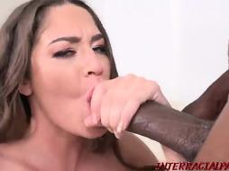 Kendra Heart is impatiently deep-throating a ample, ebony dinky and having assfucking hump, all day lengthy