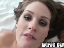 MOFOS - Super Hot dark-haired nubile Allison Moore cant wait to get back to motel apartment