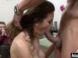 Huge-Boobed woman loves to rail a shaft