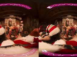 VRBangers.com-Christmas Fuck-Fest With Abella Danger And Her 7 Splendid Elves VR Pornography