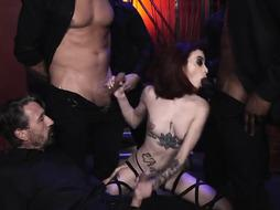 Lola Fae is a puny breasted shag damsel who loves to get gang-fucked, late at night