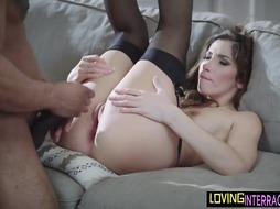 Stockinged Erotic Model Takes Dark-Hued Chisel
