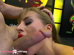 Ria Sunn and Silvia Dellai are fellating pricks and getting penetrated, in front of the camera