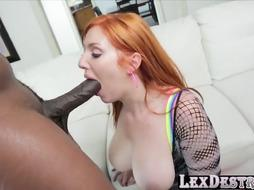 Humungous Donk Sandy-Haired Lauren Phillips Gets Plumbed with A BIG BLACK COCK
