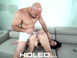 Rectal hump enjoying honey is stroking with a hookup plaything before getting butt-banged, until she pops
