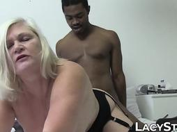 Therapist GILF healed with patients big ebony boner