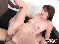 Crimson haired dame, Vera Sheer Pleasure is fellating 2 fuck-sticks and having an bi-racial three-way all day lengthy
