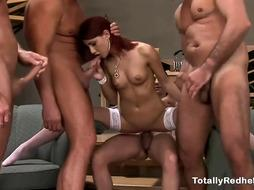 Cool Red-Haired Getting Smashed 4 Naughty Folks