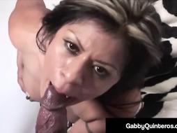 Spicy Latina Gabby Quinteros Rails Yam-Sized Ebony Pecker!
