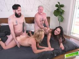 Dads Exchange and Screwed Their Nubiles from Behind
