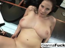POINT OF VIEW bi-racial plumb with chesty brown-haired Gianna Michaels