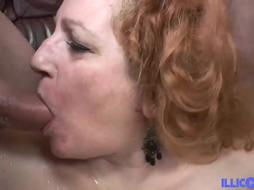 Blinded, mature bbw, Diane is having gang fuckfest in the living guest room, all day lengthy