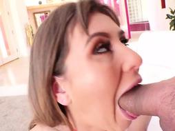 paige Owens is deep throating meatpipe and getting it up her taut bum the way she loves