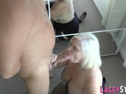 Grandmother rails and knocker plumbs massive boner