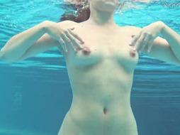 Sazan Cheharda jaw-dropping bare swimming