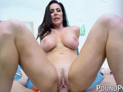 Chesty COUGAR Kendra Fervor demonstrates off switch sides cowgirl fuck-a-thon in POINT OF VIEW