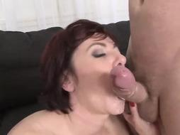 Slender, Czech mature with crimson hair is into DOUBLE PENETRATION fairly a pile and enjoys mmf three-ways