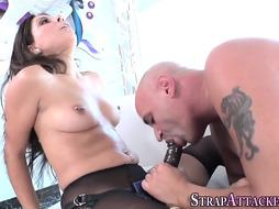 Rope on smashing female dominance stunner in tights