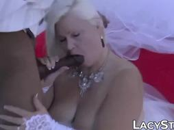 GILF bride fucked by BIG BLACK COCK groom