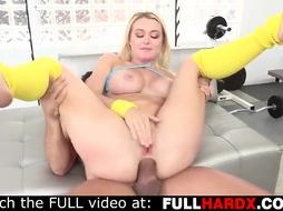 Natalia Starr is having tough rectal fuckfest with her ex and attempting not to groan too noisy
