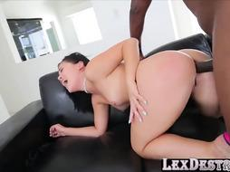 Latina Kristina Rose Tenderly Gargles and Screws a BIG BLACK COCK