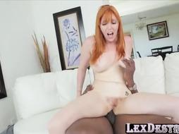 Lauren Phillips bj's a giant dark-hued dinky and gets xxx hump