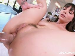 Dana DeArmond is anxiously deep throating spunk-pump and getting it up her donk, the way she loves it