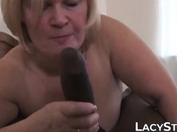 Facialized grannie luvs every inch of enormous ebony pecker