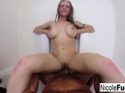 Torrid Home video of Nicole Aniston getting smashed in the bathroom