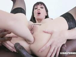 Rebecca Sharon and Sofia Starlet are frequently having gang hump sessions with luxurious, ebony dudes