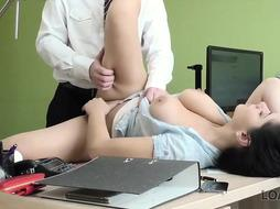 Big-Titted black-haired cougar is having assfuck bang-out with her financial consultant, to pay for his services