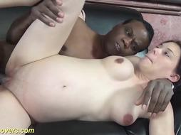 Raunchy BIG BLACK COCK Orgy in The Ninth Month of Pregnancy