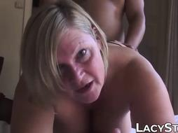 Mischievous GILF handled with BIG BLACK COCK in cootchie and jizz on face