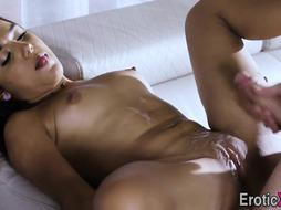 Eaten out diminutive Latina nubile gets pounded