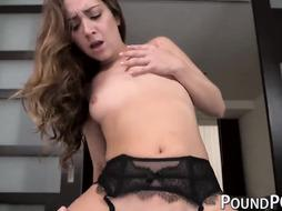 Smallish Remy LaCroix deep throats and rails thick wood in POINT OF VIEW