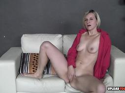 Desirable light-haired enjoys to tear up her moist pussy