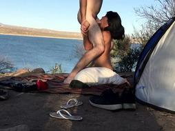 Camping heads kinky with my step-sister