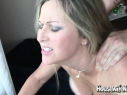 Wondrous wifey collective with trio boys in red-hot motel guest room (two)