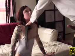 Teenage marionette facehole banged and fuckbox fingerblasted