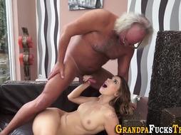 Nubile Whores Poon Slurped by Elderly Dude